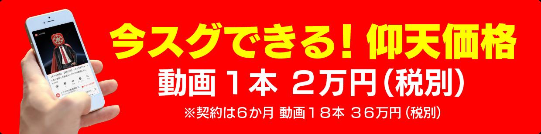 動画1本2万円(税別)
